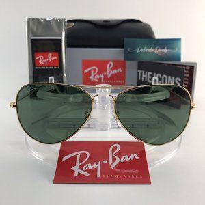 Ray Ban Aviator Gold Green Sunglasses